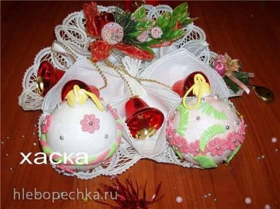 Новогодние шарики из мастики (мастер-класс)