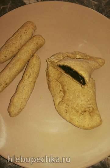 Пирожки ржаные со щавелем