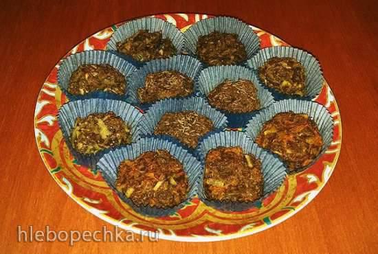 Ржаные булочки бездрожжевые с солодом и овощными начинками