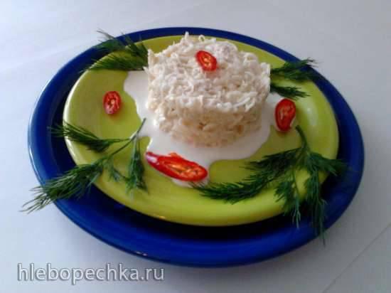 Салат «Белая лилия»