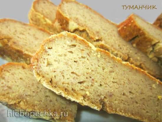 Безглютеновый хлеб на рисовой закваске Безглютеновый заквасочный хлеб на опаре без яиц (вариант № 1)