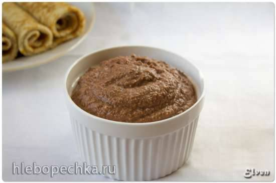 Шоколадно-яблочная паста для блинов и оладий