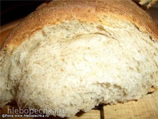 Хлеб пшеничный с зерновой крупкой и хлопьями (духовка)