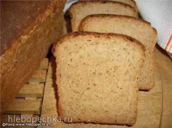 Пшеничный многозерновой хлеб на ряженке и сыворотке (духовка)