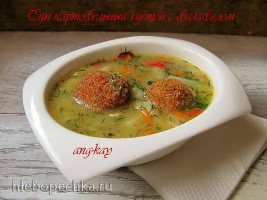 Суп картофельный густой с фалафелем (постный)