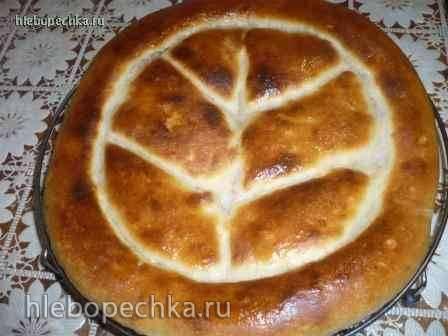 Хлеб по мотивам грузинского шотис пури Матнакаш на закваске (в духовке)