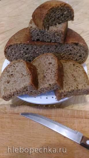 Пшеничный хлебушек на ржаной закваске в мультиварке Philips 3060/03