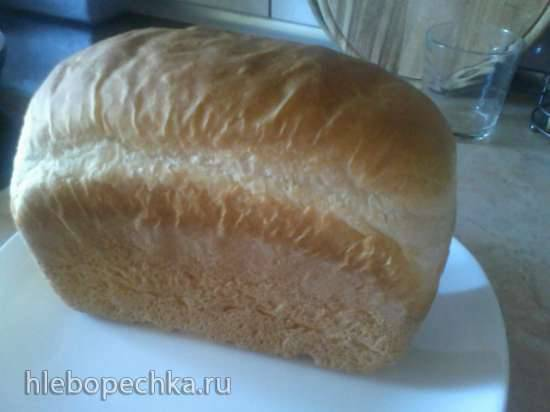 Тостовый хлеб на опаре в нештатной форме в Panasonik