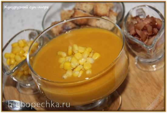 Суп кукурузный постный с полентой Кукурузный суп–пюре (блендер–суповарка Vitek VT-2620)