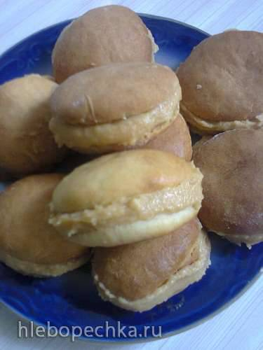 Печенье на рассоле с кремом из печенья