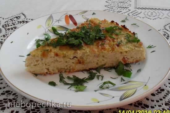 Запеканка из нутовой муки с куриной грудкой и овощами Запеканка из нутовой муки с куриной грудкой и овощами