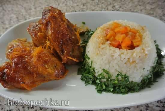 Куриные крылышки, запеченные под апельсиновым соусом Куриные крылышки, запеченные под апельсиновым соусом