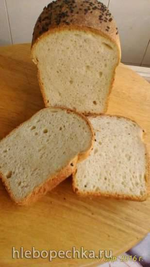 Мягкий белый хлеб для бутербродов на закваске