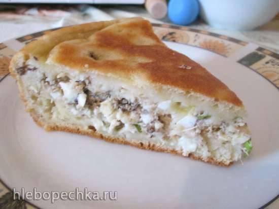 Пирог с рыбными консервами (мультиварка Redmond RMC-4504)