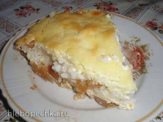Яблочная запеканка со штрейзелем (медленноварка)