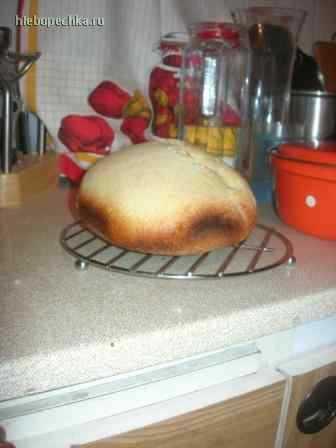 Французский хлеб на газированной воде в хлебопечке