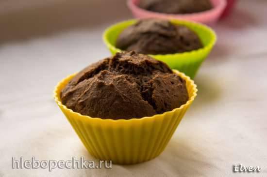 Постные шоколадные маффины с гречневой мукой