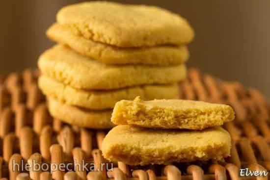 Кукурузное песочное печенье