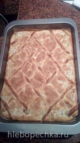 Пирог с ревенем (рабарбаром) Латвийский (пошагово)