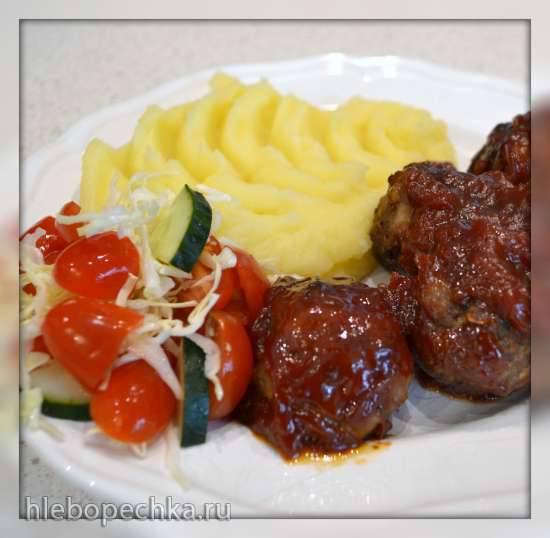 Тефтели под соусом барбекю (Multicuisine DeLonghi)