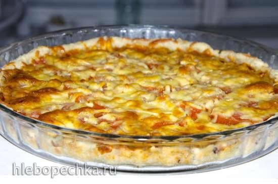 Пицца а-ля Маргарита на картофельном тесте