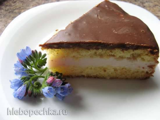 Торт «Фантазия» с зефирно-йогуртным суфле