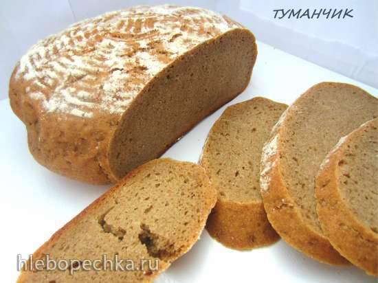 Батончики пшеничные с ржаными отрубями (на закваске или дрожжах)