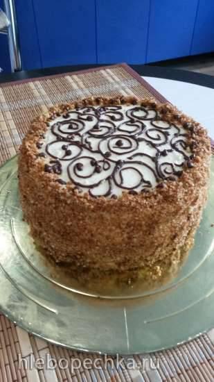 """Торт """"Домашний"""" с карамелью и киви"""