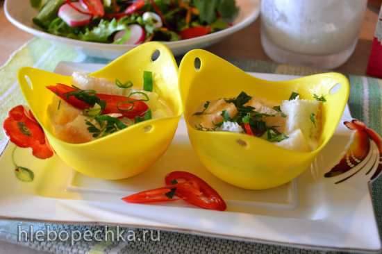 Яйца «кокот» в формочках (a la cocotte), на водяной бане