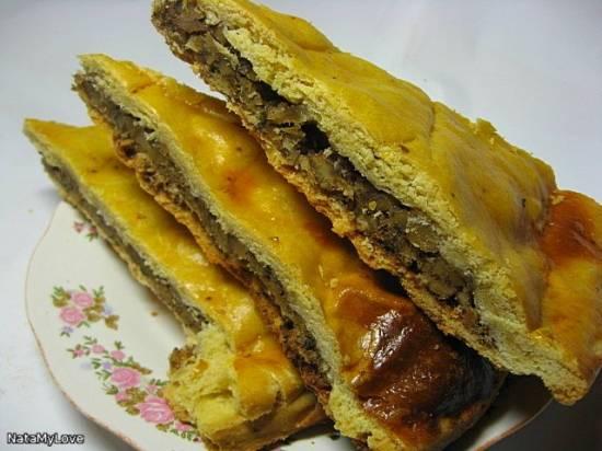 Пирог песочный с ореховой начинкой