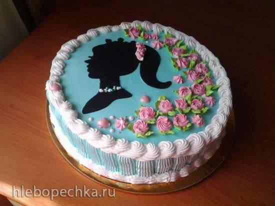 """Торт """"Барышня Тиффани"""" (по мотивам торта """"Штефания"""") Торт """"Барышня Тиффани"""" (по мотивам торта """"Штефания"""")"""