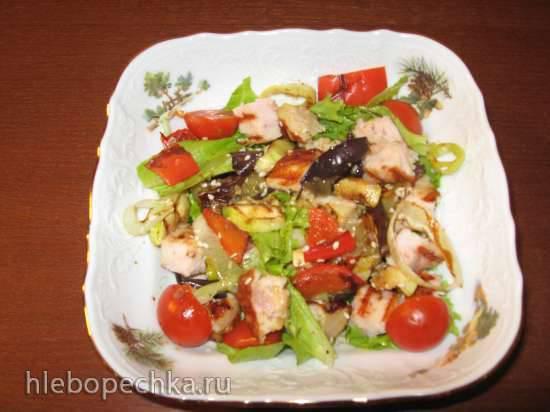 Тёплый салат на гриле (электрический гриль Steba 4.4) Тёплый салат на гриле (электрический гриль Steba 4.4)
