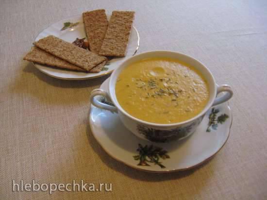 Крем-суп овощной с фасолью в блендере-суповарке Endever SkyLine BS-90 Суп-пюре из белой фасоли (блендер-суповарка Kromax Endever Skyline BS-93)
