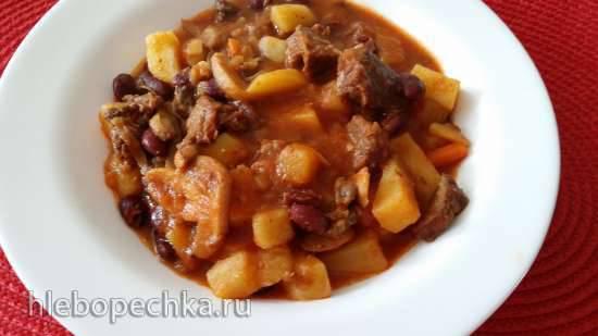 Суп гуляш с фасолью и грибами (Multicuisine DeLonghi)