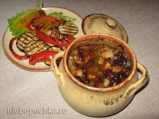 Фасоль, приготовленная в горшочке (электрический духовой шкаф) Фасоль, приготовленная в горшочке (электрический духовой шкаф)