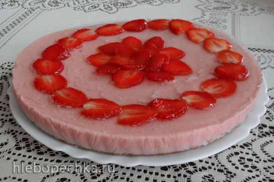 Диетический тортик с йогуртово-клубничным суфле