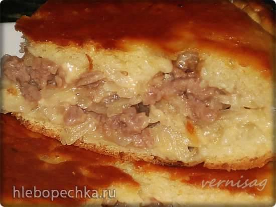 Пирог с мясом , сыром и картофелем (мультиварка Redmond RMS-02) Пирог с мясом , сыром и картофелем (мультиварка Redmond RMS-02)