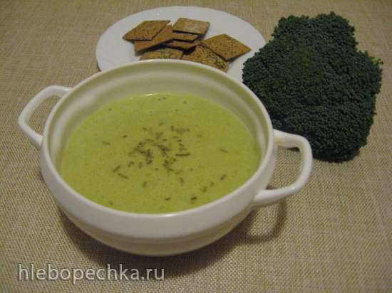 Суп-пюре из брокколи и сельдерея с секретным ингредиентом (блендер-суповарка Kromax Endever Skyline BS-93)