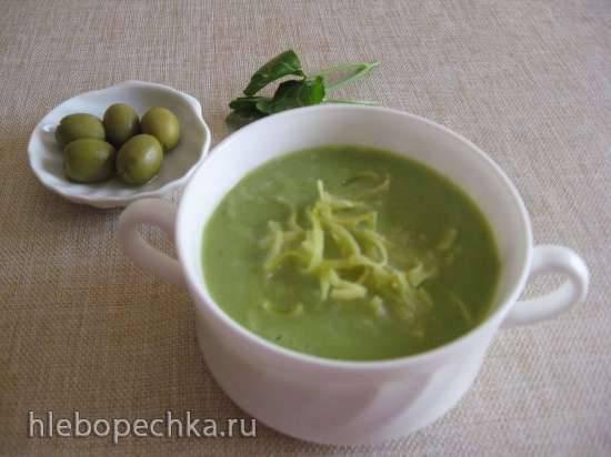 Суп-пюре Зелёное настроение с тальолини (блендер-суповарка Kromax Endever Skyline BS-93)