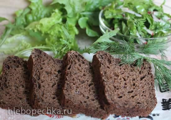 Хлеб ржано-кукурузный формовой на Жидких Дрожжах с клетчаткой из Иван-чая