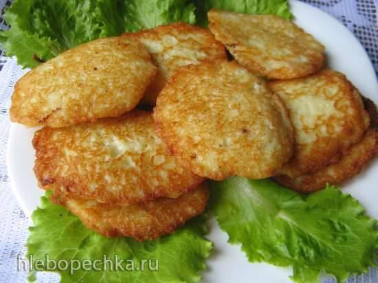 Драники из молодого картофеля с сыром