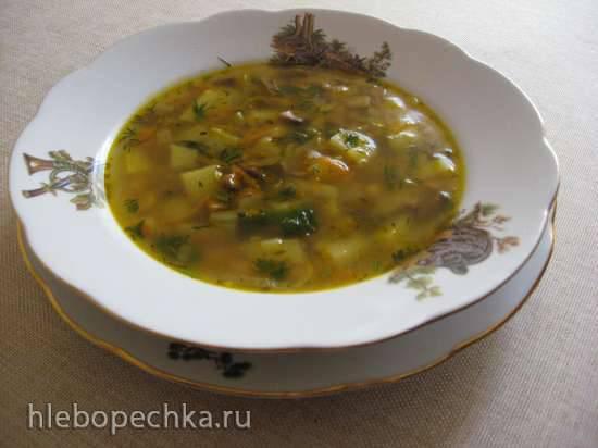 Постный суп с грибами и белой фасолью (Мультиварка Redmond RMC-02)