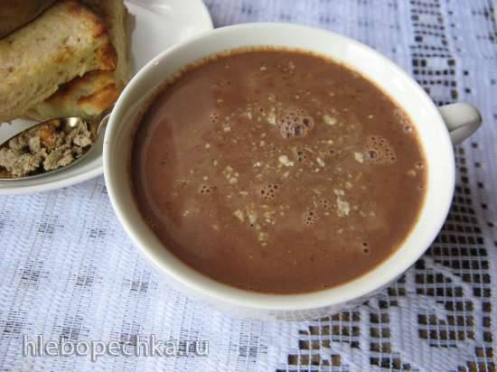 Горячий шоколад с халвой (рецепт от фабрики Красный пищевик)