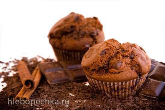 Шоколадные маффины (с кусочками шоколада)