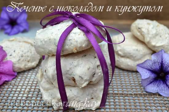 Печенье с шоколадом и кунжутом Печенье с шоколадом и кунжутом