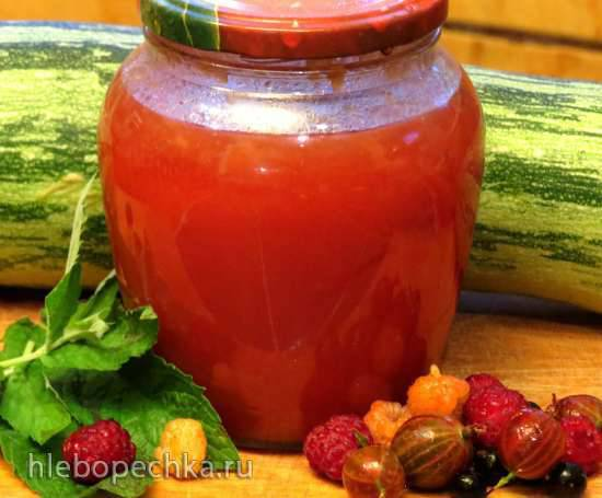 Ароматный ягодно-кабачковый джем