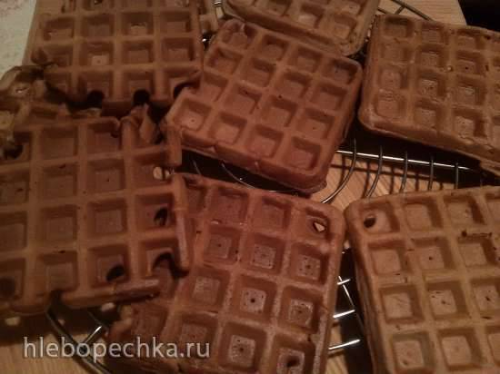 Хрустящие шоколадные вафли