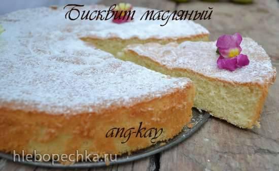 Бисквит масляный №2 (мастер-класс)