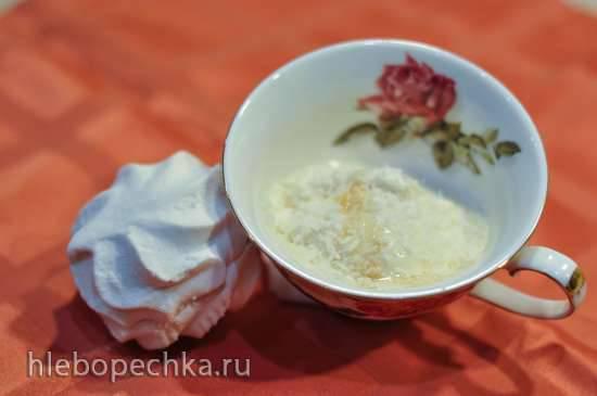 Ванильное мороженое с зефиром и кокосом