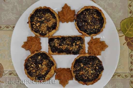 Тартинки с вишней и ореховой пастой